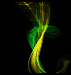 Abstract colorful smoke isolated on black style vector