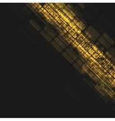 Abstract dark orange tech geometric background vector image