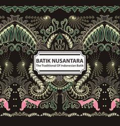 Batik nusantara - the traditional of indonesian vector