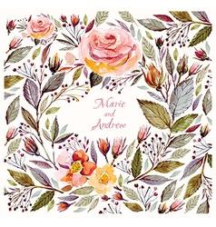 Beautiful Roses Frame vector