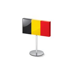 Belgium flag on a white vector