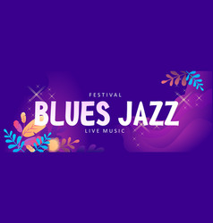 blues jazz banner vector image
