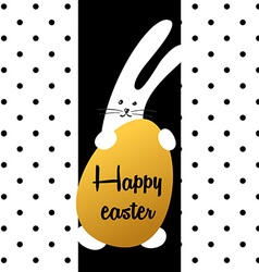 bunny happy easter vector image