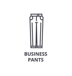 business pants line icon outline sign linear vector image