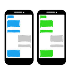 Chat bubble text message icon on a smartphone vector