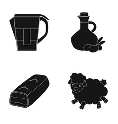 Chemistry products and or web icon in black style vector