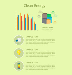clean energy poster graphic vector image