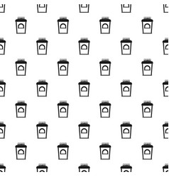 coffee selling pattern seamless vector image