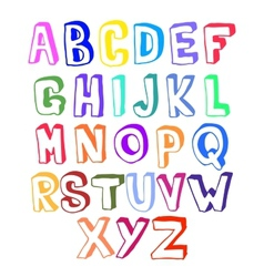 Colorful alphabet volume vector image