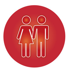 Couple gender silhouette isolated icon vector