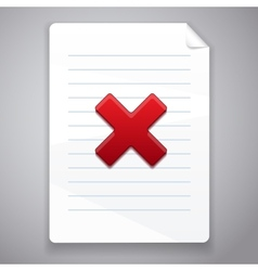 Cross symbol wrong on paper vector