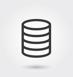 database business line icon with shadow vector image
