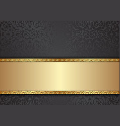 decorative background with floral pattern and vector image
