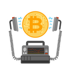 Defibrillator and bitcoin cryptocurrency launch vector