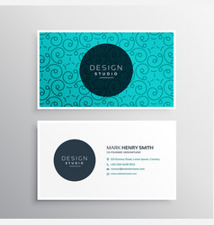 Elegant corporate business card identity vector
