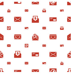 Envelope icons pattern seamless white background vector