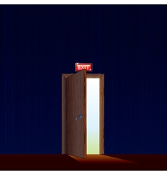 Exit from dark room vector