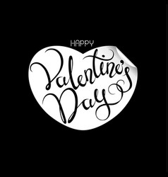festive greeting card for valentines day vector image