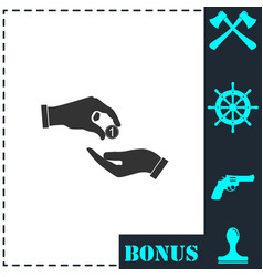 financial aid icon flat vector image