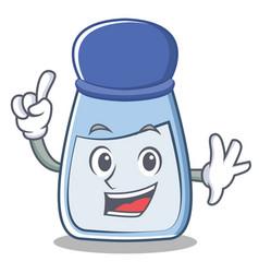Finger salt character cartoon style vector