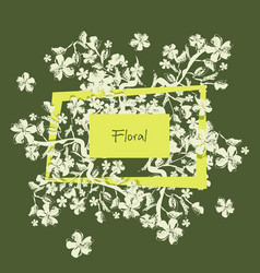 Floral background can be used for wallpaper post vector