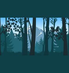 forests hills landscape vector image