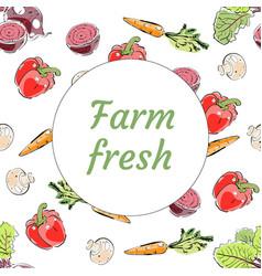 Fresh from the farm produce banner vector