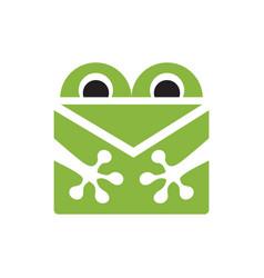 frog mail logo vector image