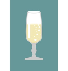 Glass of champagne Glass for wine Bowl with white vector
