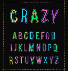 Handwritten alphabet uppercase letters isolated vector