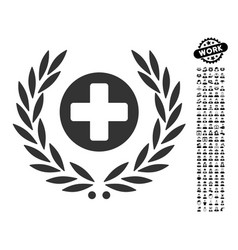 Health care embleme icon with people bonus vector