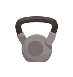 heavy kettlebell with handle kettle bell vector image