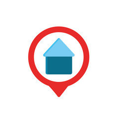 house pin gps map and navigation vector image