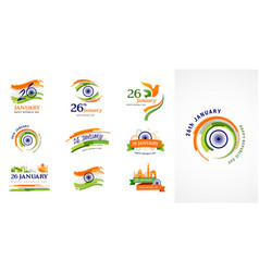indian republic day concept design banner poster vector image