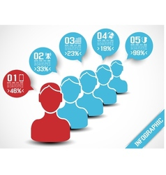 INFOGRAPHIC MODERN PEOPLE BUSINESS BLUE vector