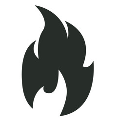 Isolated flame icon vector