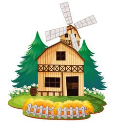 Isolated wooden barn house vector