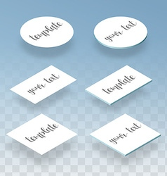 Isometric flat and realistic card template for vector