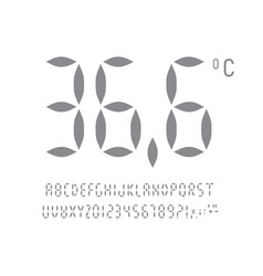 letters numbers and signs set for digital vector image
