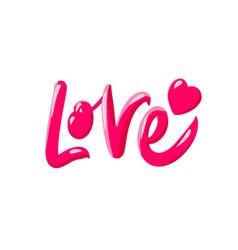Love lettering design love print for t shirt vector