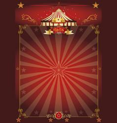 magic red circus poster vector image
