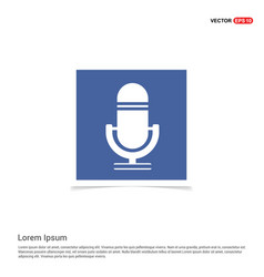 Microphone icon - blue photo frame vector