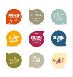 modern design labels 2 vector image