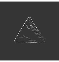Mountain Drawn in chalk icon vector