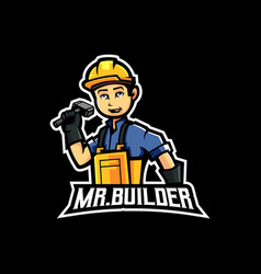 mr builder vector image