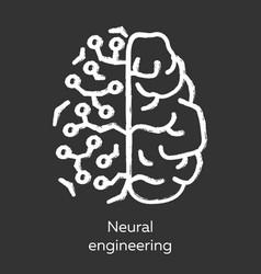 Neural engineering chalk icon neuroengineering vector