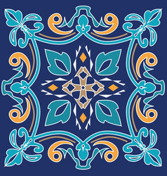Ornament for ceramic tile vector