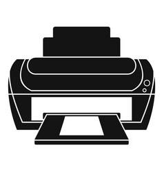 Photo printer icon simple style vector
