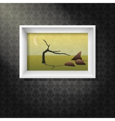 Picture on wall vector