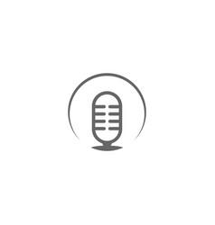 Podcast logo design template vector